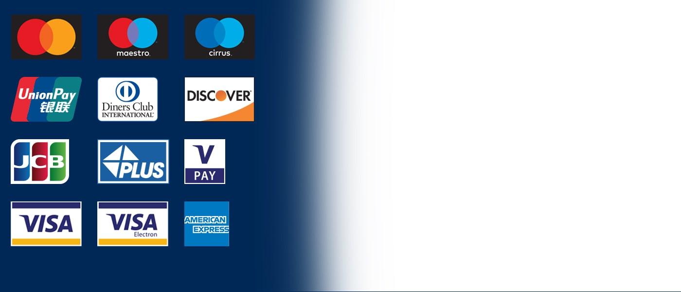 Euronets pengeautomater accepterer alle gængse international betalingskort